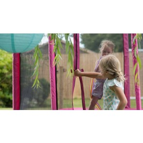 Plum Play 6ft Junior Pink Trampoline and Enclosure