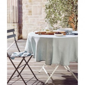 Linen and Moore Moss Seafoam Table Cloth