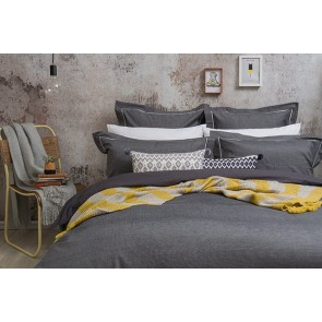 Bambury Charleston Charcoal Quilt Cover Set