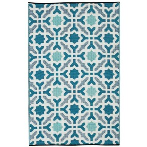 Seville Blue Outdoor Rug by FAB Rugs
