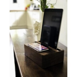 Alldock HybridX Wireless Compact Walnut Apple Package