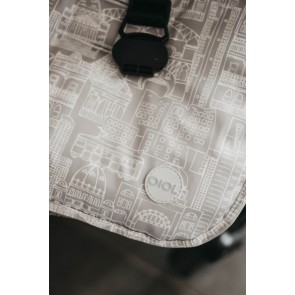 Reversible Cityscape Grey/ Poly Fleece stroller seat liner by OiOi