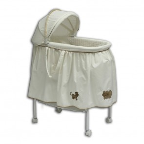 Babyhood 4 Animal Cream Bassinet