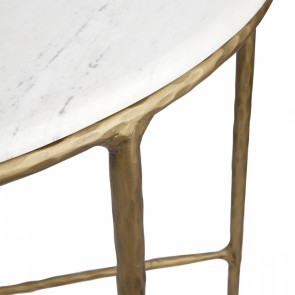 Cafe Lighting Heston Demilune Table - Brass
