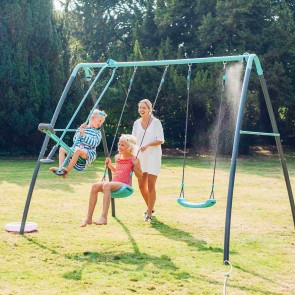 Plum Play Premium Metal Double Swing & Glider with Mist