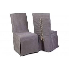 Grey Brighton Long Skirt Dining Chair by Alexander Santorini