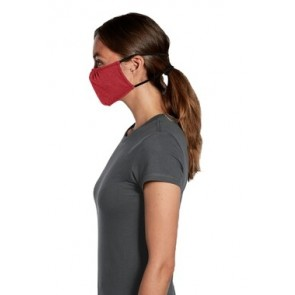 5 Pack Heather Red Reusable V.I.T Shaped Face Mask by Chef Works