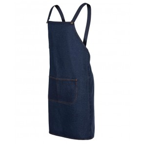 Denim Cross Back Bib Apron