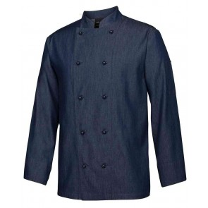 Denim Chef Coat Long Sleeve by Global Chef