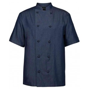 Denim Chef Coat Short sleeve by Global Chef