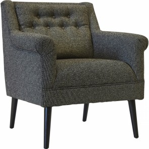 Cafe Lighting Seattle Arm Chair - Black Speckle