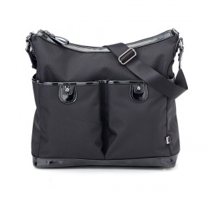 Oioi Hobo Black Ballistic 2Pocket Nappy Bag