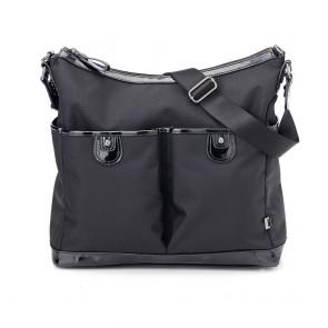 Oioi Hobo Black Ballistic 2Pocket Nappy Bag
