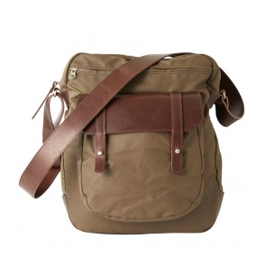 OiOi Canvas Leather Upright Satchel