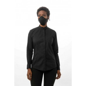 6 Pack Black Grey Skild Series FC2 Face Covering by Chef Works