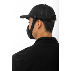 6 Pack Black Skild Series FC5 Face Covering by Chef Works