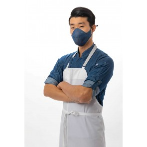 6 Pack Indigo Blue Skild Series FC2 Face Covering by Chef Works