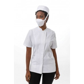 6 Pack White Skild Series FC5 Face Covering by Chef Works