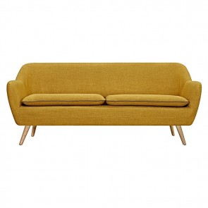 6ixty Luxe 3 Seater Sofa in Yellow