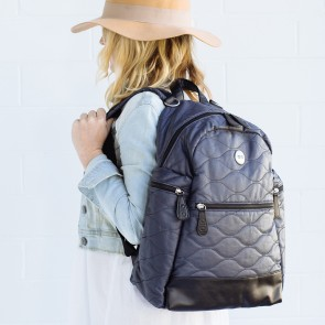 OiOi Cotton Quilt Indigo Backpack Bag