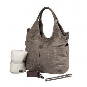 OiOi Textured Linen Slouch Bucket Tote