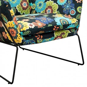 6ixty Floral Cube Chair