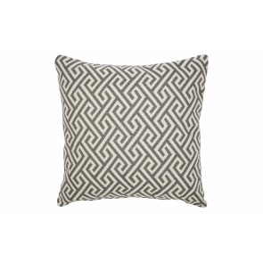 Cafe Lighting Greek Key Cushion - Grey Feather Fill 55x55