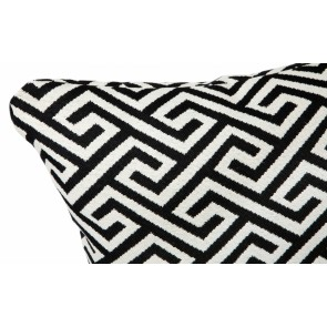 Cafe Lighting Greek Key Cushion - Black Feather Fill 55x55