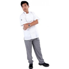 GC Classic Light Weight & Vented Short Sleeve Chef Jacket by Global Chef