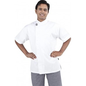 GC Modern White Short Sleeve Chef Jacket by Global Chef