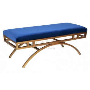 Cafe Lighting Vari Ottoman Blue Velvet