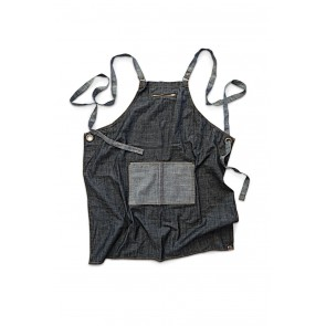 Manhattan Black Denim Cross Back Apron by Chef Works