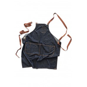Memphis Blue Denim Cross Back Apron by Chef Works