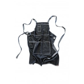 Bronx Black Denim Cross Back Apron by Chef Works