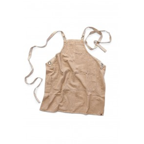 Austin Natural Denim Cross Back Apron by Chef Works