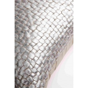 Silver Plaited Kav Cushion by Alexander Santorini