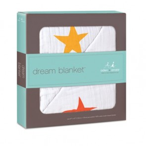 Aden and Anais Super Star Orange/Yellow Classic Dream Blankets