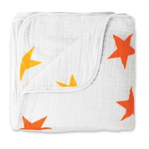 Aden and Anais Super Star Orange/Yellow Classic Dream Blankets