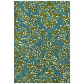 Alfresco 6504 Blue Green By Rug Culture