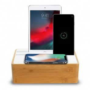 All DocK Wireless Bamboo & White