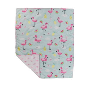 Flamingo All Season Cot Quilt by Lolli Living