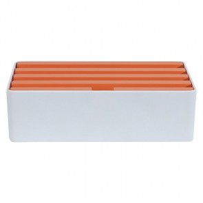 AllDock Limited Edition 6-Port Charging Station, Orange