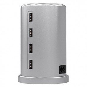 ALLDOCK Charging Tower Set, Silver