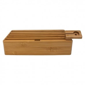 AllDock Bamboo 5-Piece Charging Station Set