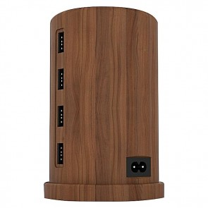 ALLDOCK Charging Tower Set, Walnut