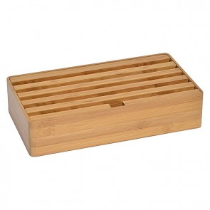 AllDock Bamboo 6-Port Charging Station