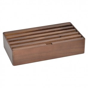 AllDock Walnut 6-Port Charging Station