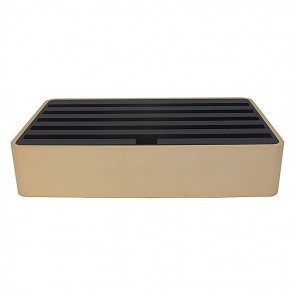 AllDock Aluminium Gold/Black 6-Port Charging Station