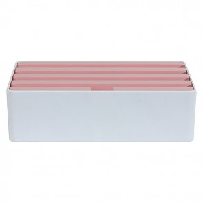 AllDock Limited Edition 6-Port Charging Station, Pink