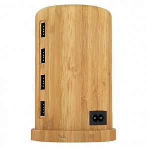 ALLDOCK Charging Tower Set, Bamboo